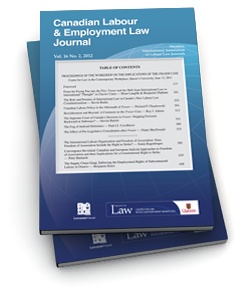 Canadian Labour & Employment Law Journal