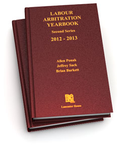 Labour Arbitration Yearbook 2012-2013